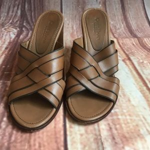 Cole Haan Country Slip On Heel Leather Sandals